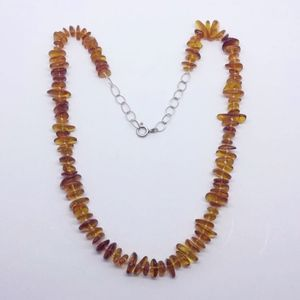 sterling silver Baltic amber necklace #163